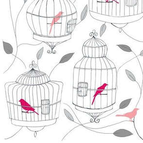 Rose Birds and Cages