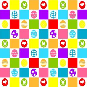 Checkerboard Eggs
