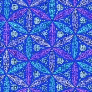 Pysanky floral in blue