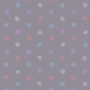 Pysanky dots in grey