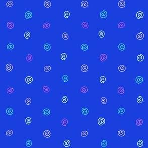 pysanky dots in blue