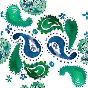 cestlaviv_ GREEN EYE LADY _PAISLEY CRAZY Collection_