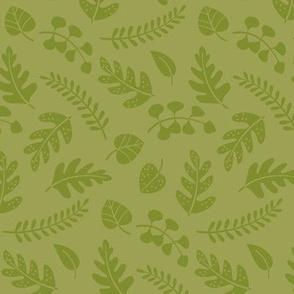 Fern leaves green
