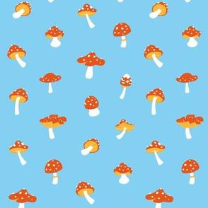 Mushroom toadstool blue