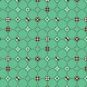 mosaic metal work green mint