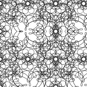 Straight Swirl (black & white)
