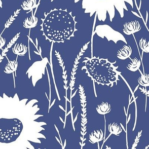 wildflowers - navy