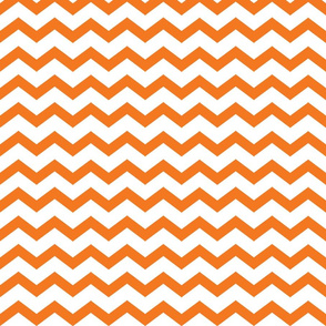 orange and white chevron
