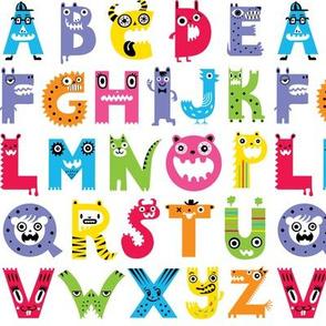 alphabet monster pattern