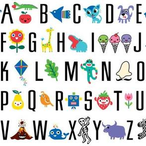 sweet alphabet pattern