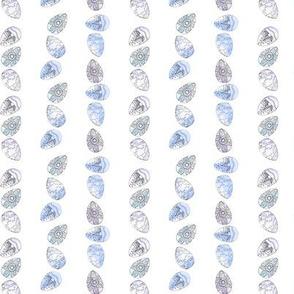 Watercolour Eggs Blue Stripe