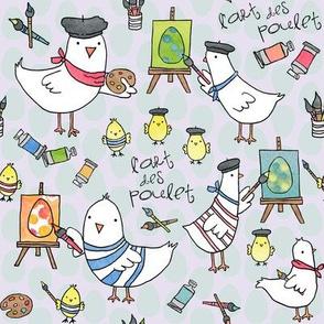 l'art des poulet! (light egg backround)