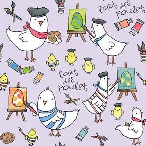 l'art des poulet! (pale lilac)