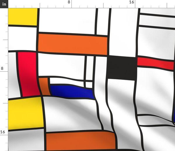 Piet Mondrian inspired line pattern