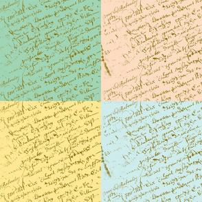 French Script fat quarter bundle
