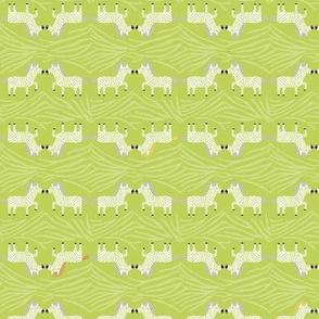 Safari Sweet Green Geometric Zebra