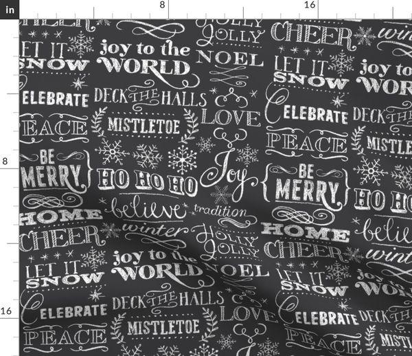 Teacher Chalkboard Fabric ~ 100/% Cotton By The Yard ~ Black White Chalk Board