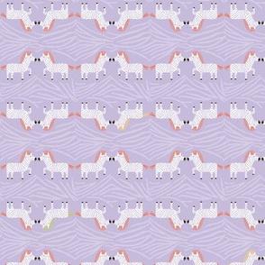 Safari Sweet Lavender Geometric Zebra