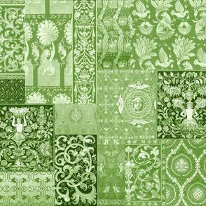 Henry VIII Was A Cheater ... Quilt ~ Moss Green