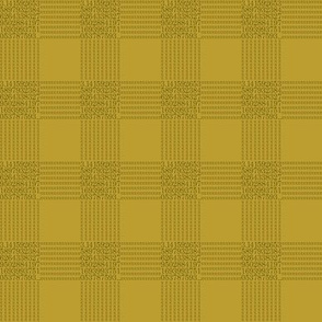 pi are square (bronze and gold)