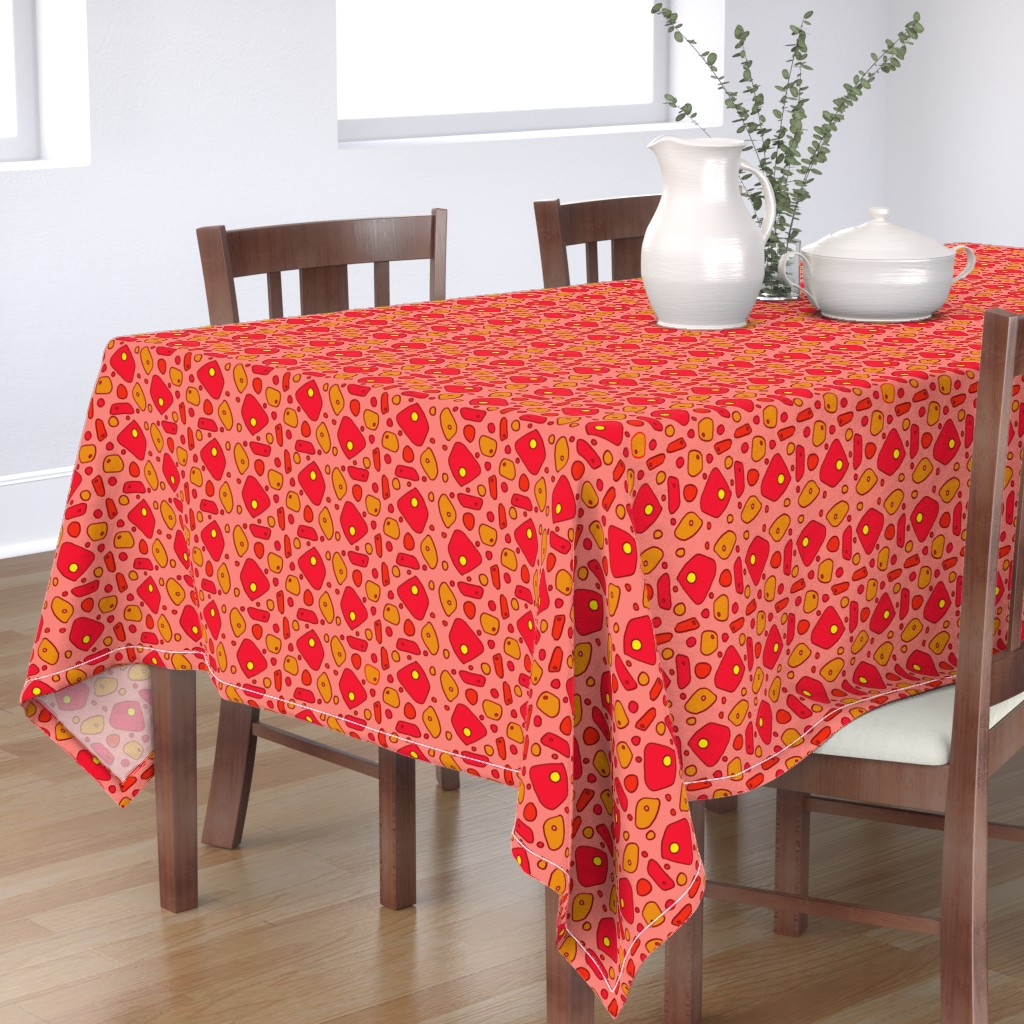 Bantam Rectangular Tablecloth featuring pimento cheese by lissame73