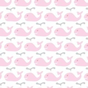 Happy whales- pink