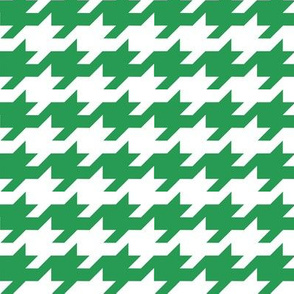 Houndstooth - Kelly green and white