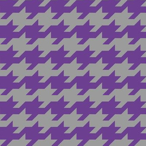 Houndstooth - purple and grey