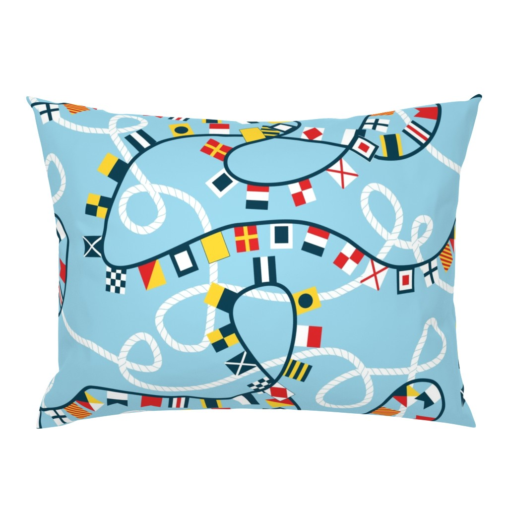 Campine Pillow Sham featuring Ropes and Flags Alphabet by candyjoyce