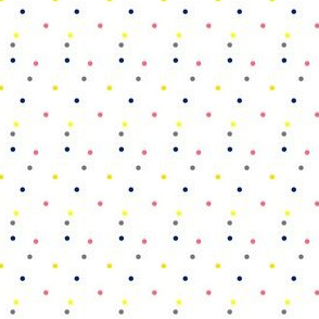 Boho Dots | Colorful Spots on White | Small Version