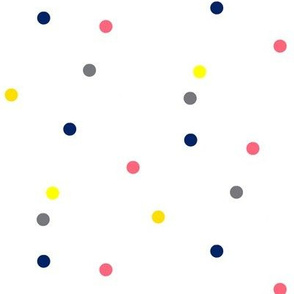 Colorful Dots on White