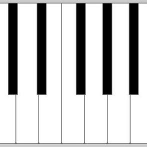 01920731 : pianoforte keyboard - life-sized