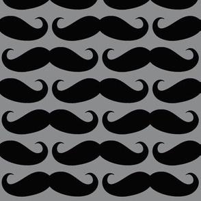 Black on Gray Mustache