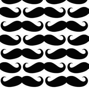 Black on White Mustache