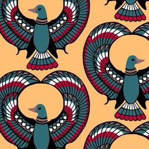Egyptian Ducks on Gold