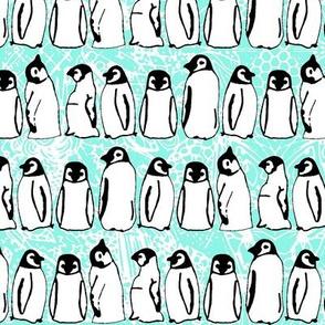 baby ice penguins aqua