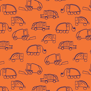 LaraGeorgine_Garbage_Trucks_oRANGE
