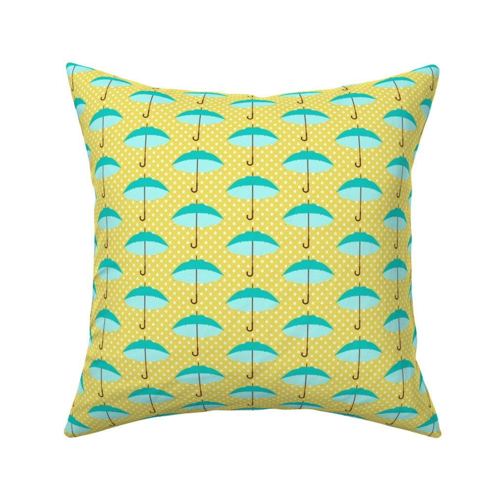 Catalan Throw Pillow featuring April Showers by mytinystar