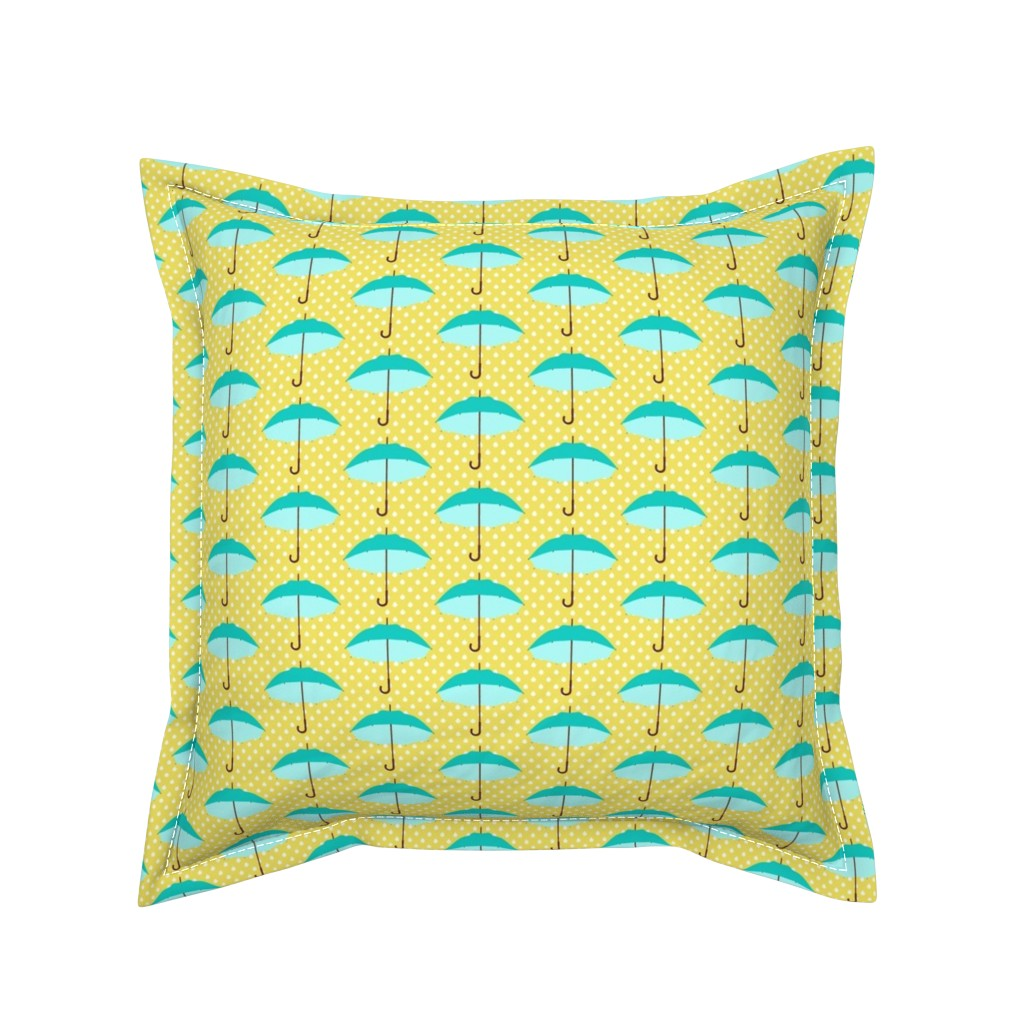 Serama Throw Pillow featuring April Showers by mytinystar