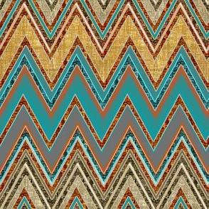 Chevron Rust and Blue textures
