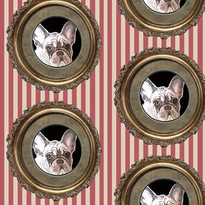 french bulldog fabric and stripes