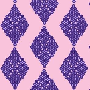 Pink Purple Diamond Sewing Toile Coordinate