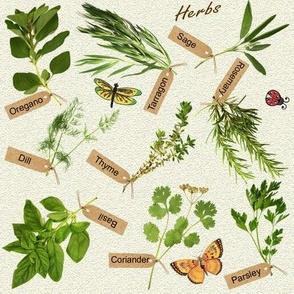 herbs and butterflies