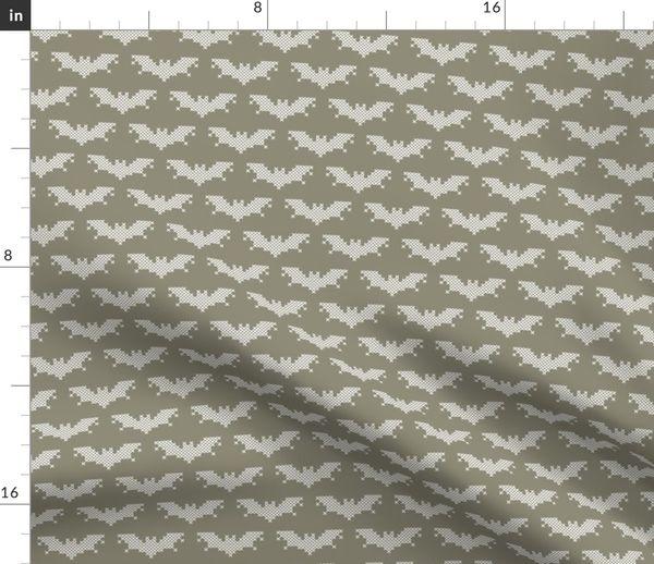 Fabric by the Yard Cross stitch bat