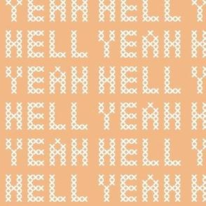 Cross stitch 'hell yeah'