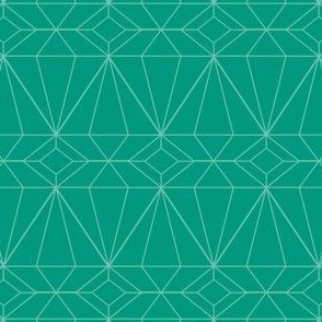 Diamonds on Emerald outline
