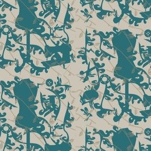 Teal Sewing Toile