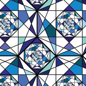 Octogon Fractals - Blue