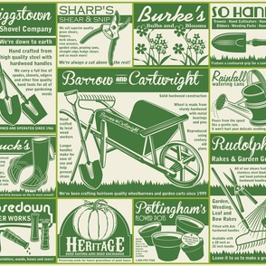 Gardening Tools Advertising ~ Green