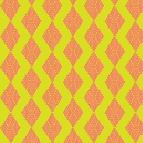Sorbet Melon Diamond Coordinate for Sewing Toile